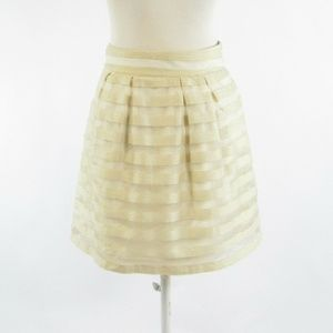 Cream ANN TAYLOR overlay A-line skirt 0